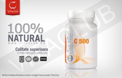 Produs natural cu vitamina C 500 mg de la Calivita