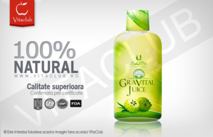 Suc de graviola şi aloe vera organice