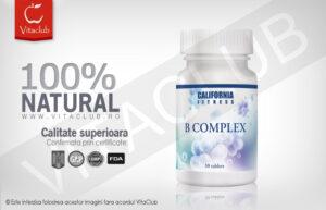 Flacon 30 tablete complex de vitamina B